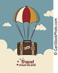 viaggiare, arround, mondo