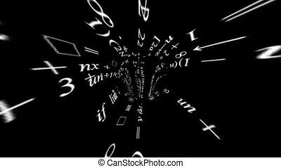 viaggiare, attraverso, uno, scienza, tunnel