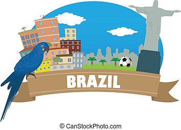 viaggiare, brazil., turismo
