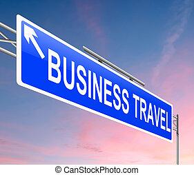 viaggiare, concept., affari