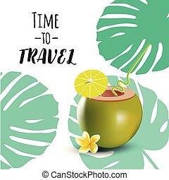 viaggiare, concetto, amore, vector., illustrazione