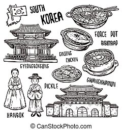 viaggiare, concetto, corea sud