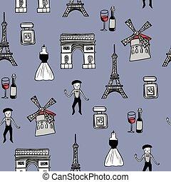 viaggiare, concetto, fondo, francia