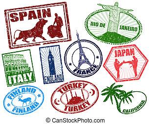 viaggiare, francobolli