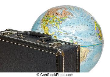 viaggiare, intorno, globo