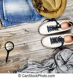 viaggiare, set, items.