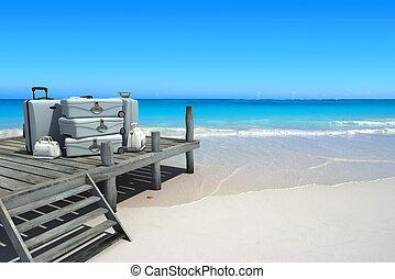 viaggiare, spiaggia, lusso