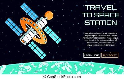 viaggiare, stazione, spazio