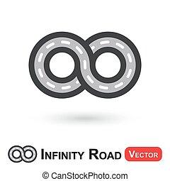 viaggiare, (, strada, infinità, infinito, )