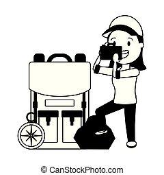 viaggiare, turista, persone
