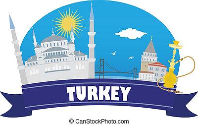 viaggiare, turkey., turismo
