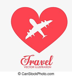 viaggiare, vettore, disegno, illustration.
