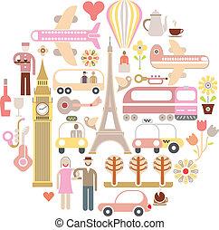 viaggiare, vettore, -, illustrazione