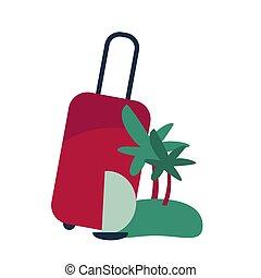 viaggiare, vettore, illustrazione