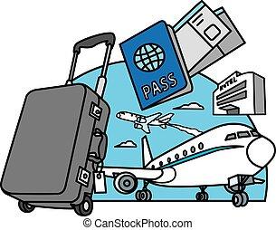 viaggiare, viaggio, aria