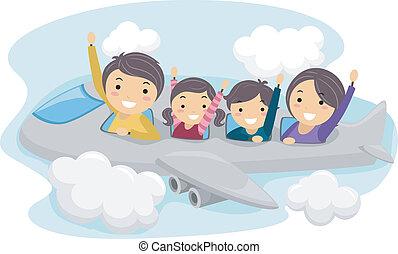 viaggio, famiglia