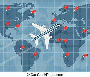 viaggio internazionale, aria