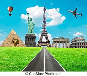 viaggio mondo, concetto