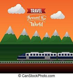 viaggio mondo, intorno, tempo