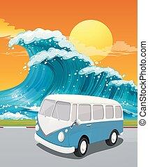 viaggio, strada, oceano