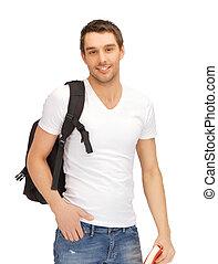 viajando, estudante