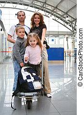 viajando, família