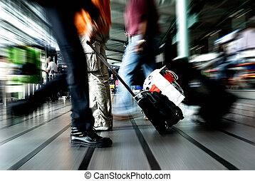 viajando, pessoas