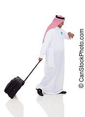 viajante, árabe, negócio