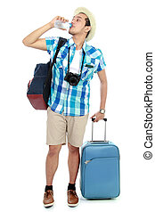 viajante, cansadas