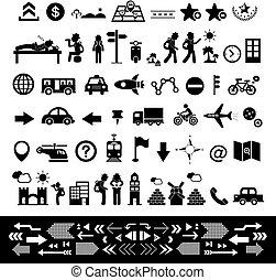 viajante, explorador, ícone, jogo