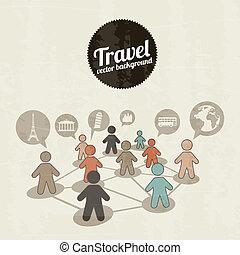 viajantes, ícones