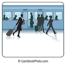 viajantes, estação