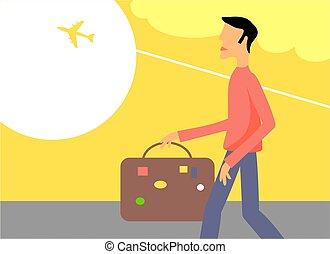 viajar, hombre