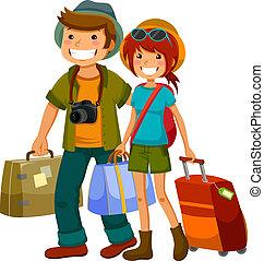 viajar, pareja