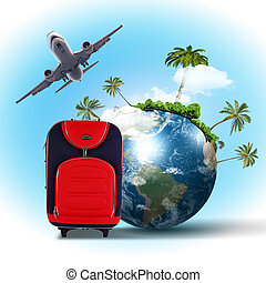 viajar y turismo, collage