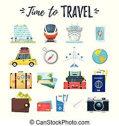 viajar y turismo, iconos