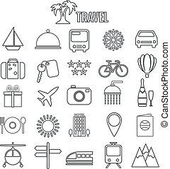 viaje ícones
