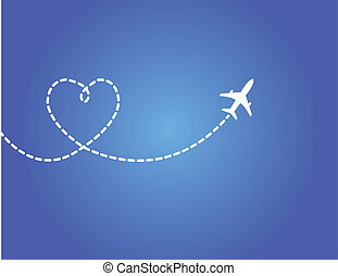 viaje, amor, concepto