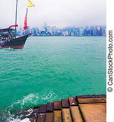viaje, asia, ciudad, -, hong kong