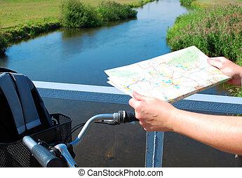viaje, brandenburg, ciclismo