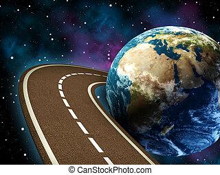 viaje, camino