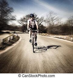 viaje, ciclismo