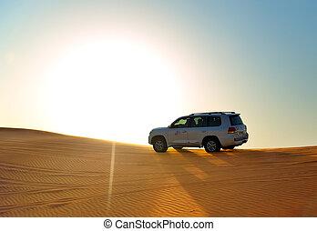 viaje, coche, dubai, off-road, desierto