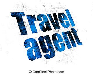 viaje, concept:, plano de fondo, agente, digital