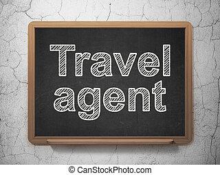 viaje, concept:, plano de fondo, pizarra, agente