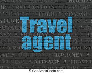 viaje, concept:, turismo, plano de fondo, pared, agente