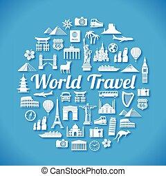 viaje, concepto, diseño