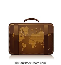 viaje, concepto, ilustración, equipaje