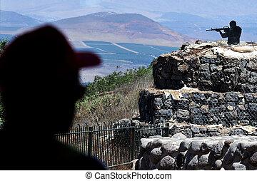 viaje, fotos, de, israel, -, altos del golán