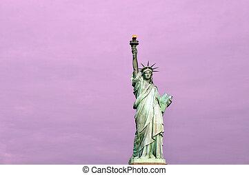 viaje, fotos, de, nueva york, -, manhattan